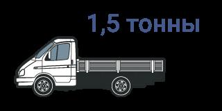 Автомобильные грузоперевозки Газель 1.5 тонны